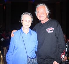 Jimmy Page with Sister Joan at the Jesters Care for Kids charity event held in Thailand, Sept, 21, 2013.