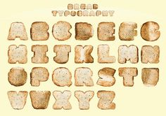 Bread Typography by justintanwy, via Flickr