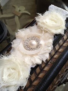 Best Seller WHITE or IVORY Lace Garter with by LolaBridalDesigns. , via Etsy.