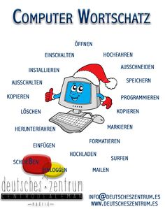 Computer Wortschatz Deutsch Wortschatz Grammatik German DAF Vocabulario Alemán