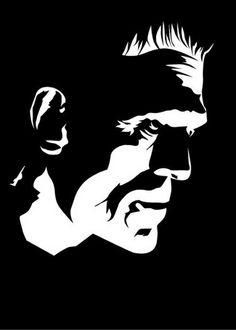 Arte Horror, Horror Art, White Art, Black And White, Frankenstein Art, Arte Do Harry Potter, Pumpkin Stencil, Horror Icons, Classic Monsters