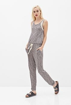 Marled & Netted Jumpsuit | FOREVER21 - 2000058285