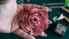 Step by step photographic tutorial #doityourself #crafting #scrap #hobbies #paper #flowers #valentinascreations