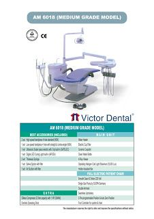Dental Chair Complete with Oilless Compressor Victor AM 6018 | Dunia Alat Kedokteran