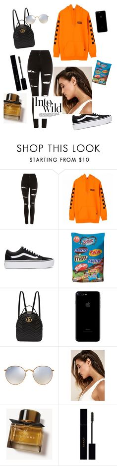 """""""October school outfit#1"""" by fosterj-i ❤ liked on Polyvore featuring Topshop, Vans, Gucci, Ray-Ban, LULUS, Burberry and Anja"""