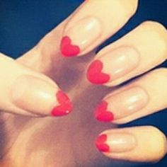 heart stiletto nails!