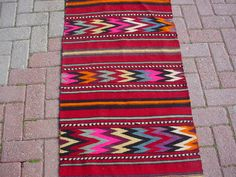 """Turkish Runners Handwoven Kilim Traditional Wool Rug Carpet 25"""" x 78.5"""" inches"""