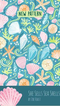 Sea Shell Coastal decor pattern