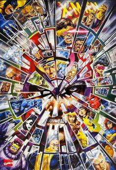 X-Men 30th Anniversary poster - Bob Larkin