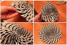 Pleated Paper Medallion... out of.... wait for it... wrapping paper!