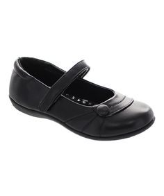 Look at this Laura Ashley Black Button Mary Jane on #zulily today!
