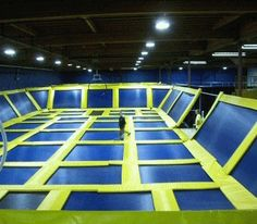 I'd like a huge extension on my house of trampoline floors and walls