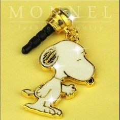 ip210 Luxury Snoopy Anti Dust Plug Cover Charm For iPhone 4 4S -- You can find out more details at the link of the image.