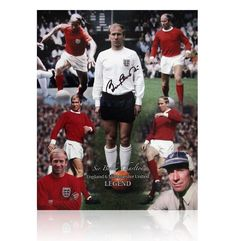 England & Manchester United Legend - Hand signed by Sir Bobby Charlton