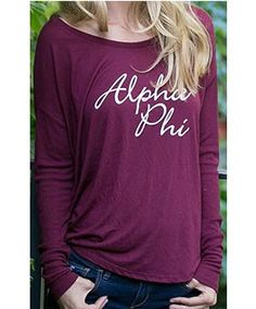 Long Sleeve Tee Shirt by Sorority Specialties