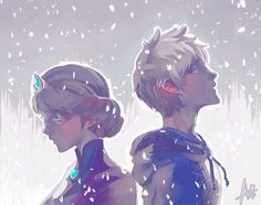 Jack Frost and Elsa. So beautiful!