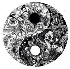 Tattoo couple mandala yin yang 32 ideas for 2019 Ying Yang, Arte Yin Yang, Yin Yang Art, Yin Yang Tattoos, Tattoo Drawings, Body Art Tattoos, Sleeve Tattoos, Yin Yang Designs, Paar Tattoos