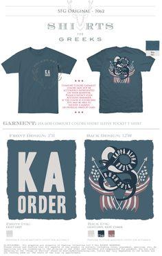 KA Order | Kappa Alpha Order | Rush | Snake | America | Patriotic | Cute T-Shirt Ideas | Cool Designs | shirtsforgreeks.com