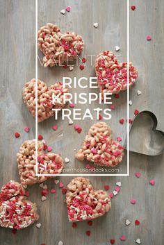 These Valentine Rice Krispie Treats are the perfect addition to any Valentines day party or Celebration! Visit www.One-Thousandoaks.com to find the secret behind these delicious treats!