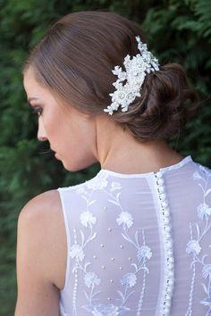 RUBY | Bridal lace headpiece | Percy Handmade