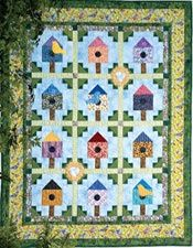 Tweeting Trio: Tabletop Birdhouse Quilt Patterns Designed and ... : birdhouse quilts - Adamdwight.com