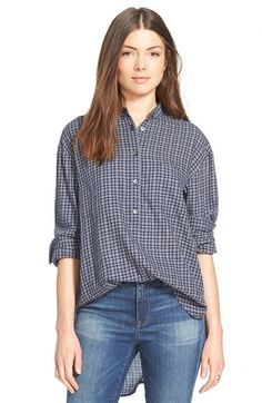 Madewell Check Popover Top available at #Nordstrom