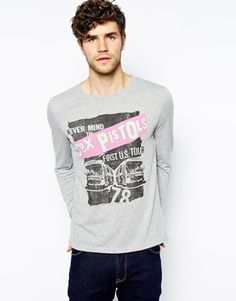 ASOS Long Sleeve T-Shirt With Sex Pistols Tour Print