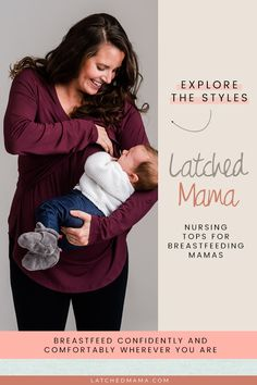 Nursing tops, tanks, tees, tunics, hoodies and more! Our nursing tops offer coverage and easy breastfeeding access for all mamas. Breastfeeding Fashion, Breastfeeding Tips, Breastfeeding Problems, Baby Boy, Neue Outfits, Nursing Tops, After Baby, Baby Arrival, Pregnant Mom