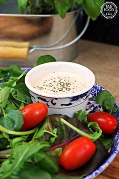 Creamy Italian Salad Dressing - great with Pizza! Fab Food 4 All