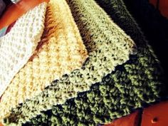 crochet dish cloths.  These dish cloths are the best!  And...so easy to make!