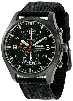 Seiko - Similar to the IWC Top Gun, but affordable Dream Watches, Luxury Watches, Cool Watches, Watches For Men, Field Watches, Sport Watches, Iwc, Seiko Watches, Beautiful Watches