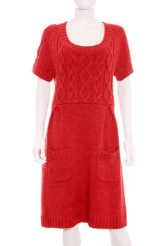 Vestido Mujer - Dabulong de Punto en Rojo de Segunda Mano 7074e2f265c6