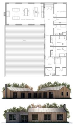 If you are going to build a barndominium, you need to design it first. And these finest barndominium floor plans are terrific concepts to begin with. Jump this is a popular article Custom Barndominium Floor Plans Pole Barn Homes Awesome. Pole Barn House Plans, Pole Barn Homes, Dream House Plans, Modern House Plans, Small House Plans, House Floor Plans, L Shaped House Plans, Barndominium Floor Plans, Casas Containers