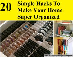 20 Simple Hacks To Make Your Home Super Organized Organization Station, Office Organization, Organization Ideas, Life Tips, Life Hacks, Declutter, Organize, Improve Yourself, Make It Yourself