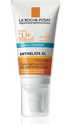 All about Anthelios XL SPF 50+ Cream COMFORT, a product in the Anthelios range by La Roche-Posay recommended for For sensitive or  sun allergy-prone skin. Free expert advice