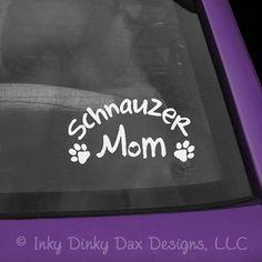 Schnauzer Mom Decal van InkyDinkyDaxDesigns op Etsy