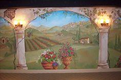 tuscan wall murals   Pittsburgh Italian Landscape Media Room - Mural Photo in Pittsburgh ...