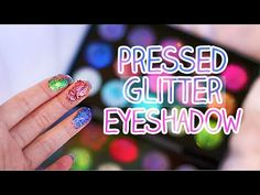 DIY : Inexpensive Pressed Glitter Eyeshadow | Glitter Injection - YouTube