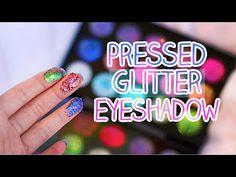 DIY : Inexpensive Pressed Glitter Eyeshadow | Glitter Injection - YouTube