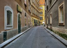 The Schonlaterngasse (street) in Vienna, Austria is a picuresque alley in the city center Visit Austria, Vienna Austria, City C, Old Street, Travel Memories, Nature Images, What A Wonderful World, Budapest, Wonders Of The World