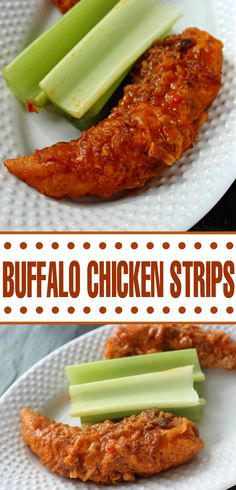 These Buffalo Chicken Strips are an addictive party appetizer recipe or even great as part of a meal.