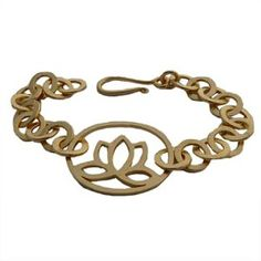 18k Gold or Sterling Silver Matte Lotus Flower Link Bracelet from YogaAccessories.com    Find discount codes for free shipping, 15%OFF, 25%OFF and more here: www.couponfinder.com/s/641730/Yoga-Accessories-coupons?xtrnl=pinterest