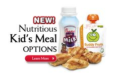 Chick-fil-A Grilled Nuggets, 2% milk and Apple & Cinnamon Buddy Fruits Blended Fruit help make our Kids Meal a nutritious option for your little ones!