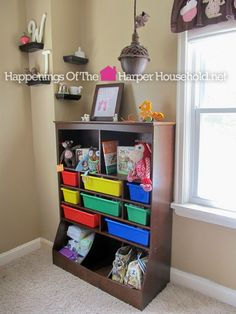 wall storage unit in espresso review by happenings of the harper household