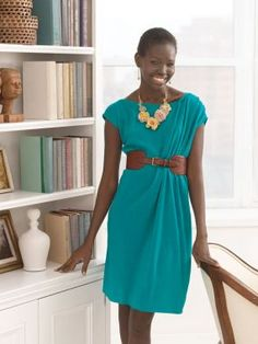 one hour dress pattern!  Looks terrific and easy!