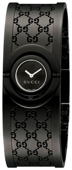 ecb3e65fb2f Luxury Watch   Gucci Women s YA112531 Twirl Small Black PVD Bangle Watch