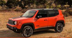 Orange jeep renegade trailhawk
