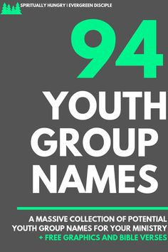 94 + Youth Group Names - Spiritually Hungry Best Group Names, Youth Group Names, Group Names Ideas, Youth Group Rooms, Youth Group Activities, Group Games, Youth Groups, Good Names For Groups, Youth Group Events