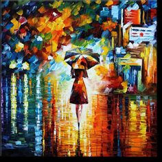 "Oil painting ""Rain Princess""     #art #afremov #painting"