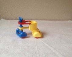 Renwal Red Blue Yellow Baby Stroller for Dollhouse